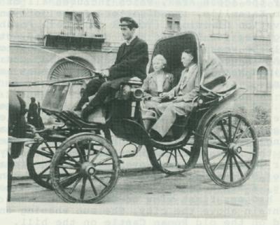 Horse-drawn carriage in Turkey.