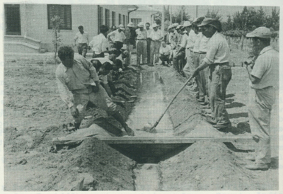 A field demonstration on water distribution.