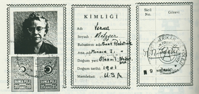Verna's Turkish teaching certificate.