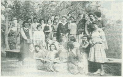 Verna's class of Turkish girls who would stand when she entered the class room.