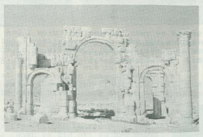 Pillars at Tadmore, an ancient town.