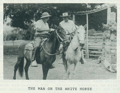 THE MAN ON THE WHITE HORSE.