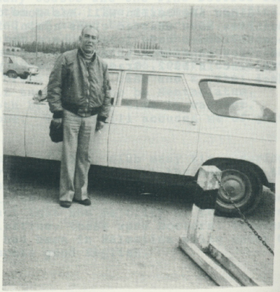 Mustfa and his station wagon.
