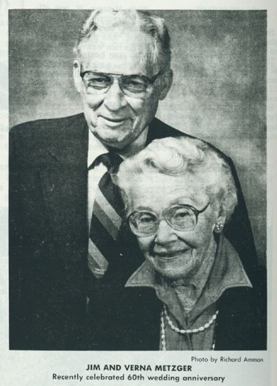 Jim and Verna Metzger.  Photo by Richard Ammon.
