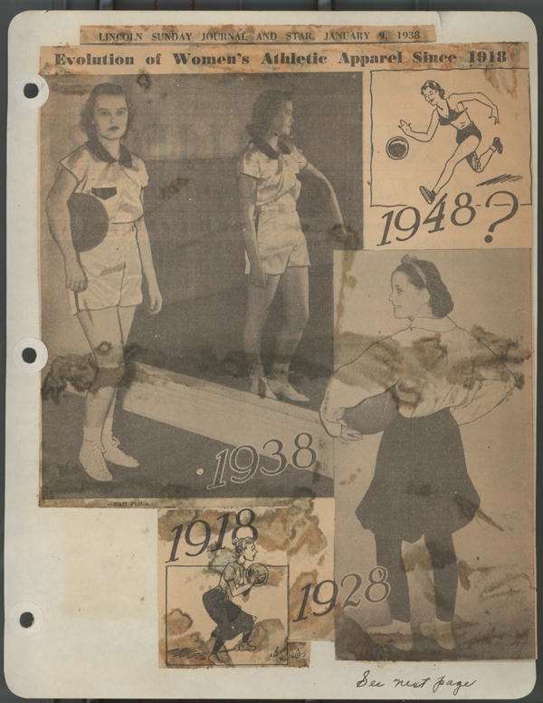 A photograph of a January 9, 1938 Lincoln Journal-Star visual spread titled