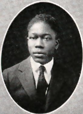 Senior photo of Aaron Douglas from 1922 Corhusker yearbook.