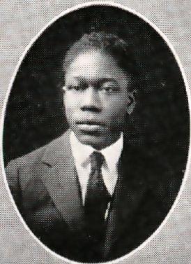 Senior photo of Aaron Douglas from 1922 Corhusker yearbook.