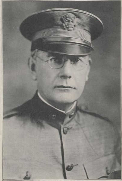 Head and shoulders photograph of Chancellor Samuel Avery in dress military uniform