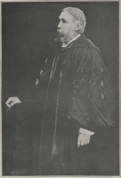Photograph of Chancellor Manatt wearing cloak.