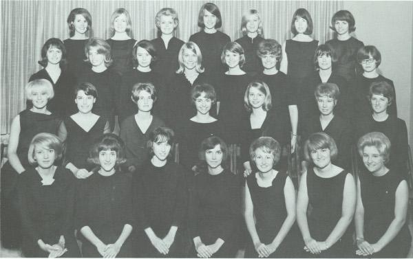 The newest members of Alpha Delta Pi ca. 1960.