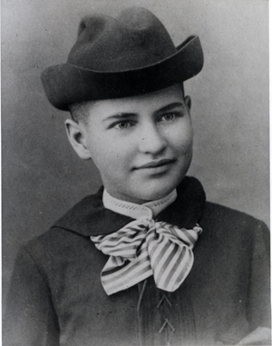 Willa Cather as a 2nd year Prep, at about the age of 16 in 1890-1891.