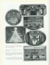 Image of Cornhusker yearbook page displaying the homecoming decoration contest winners, c. 1930. DOI: 2008
