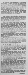 An editorial by Jack Todd as seen in the November 21, 1968 Daily Nebraskan, c. 1968.