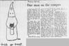 A cartoon and article as seen in the October 31, 1968 Daily Nebraskan, c. 1968.