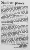 An article by John Calloway as seen in the December 13, 1968 Daily Nebraskan, c. 1968.