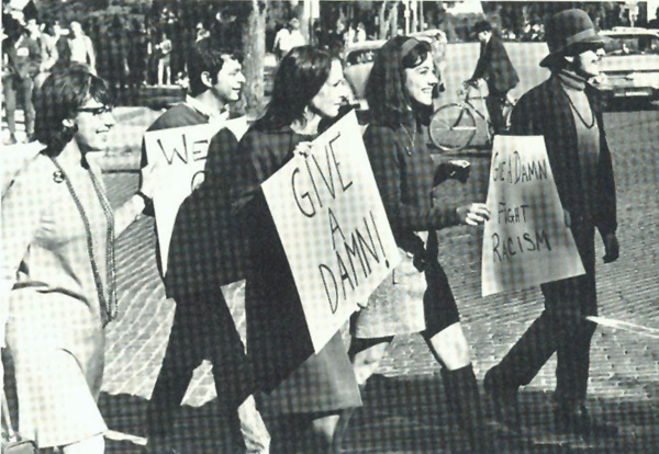 A photograph of the Open Housing March, c. 1969.