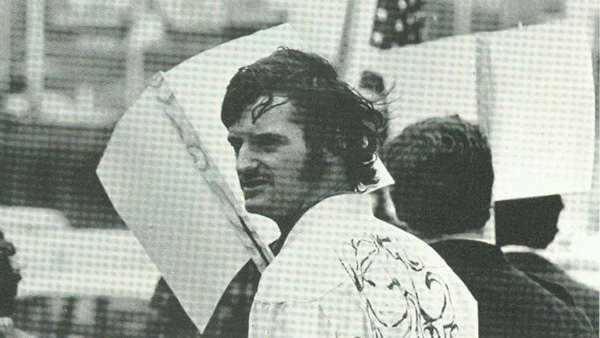 A photograph of an unknown male in the 1969 Cornhusker, c. 1969.