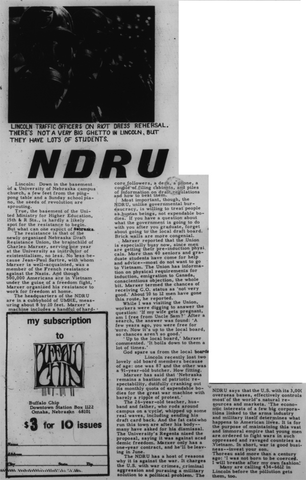 An article from the 1968 Buffalo Chip, c. 1968.