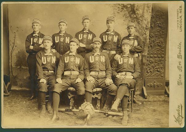 A photograph of The 1887/88 Baseball Team
