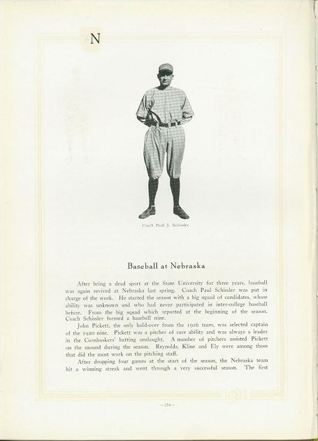 Excitement among students upon the return of baseball shown in the yearbook.