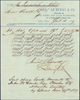 Official note of sale of 42 160 Acre Land Warrants for the price of $5,779.20 bought by Kellog and sent to McConihe on 17 June 1859.